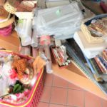 包装紙・箱の在庫整理。